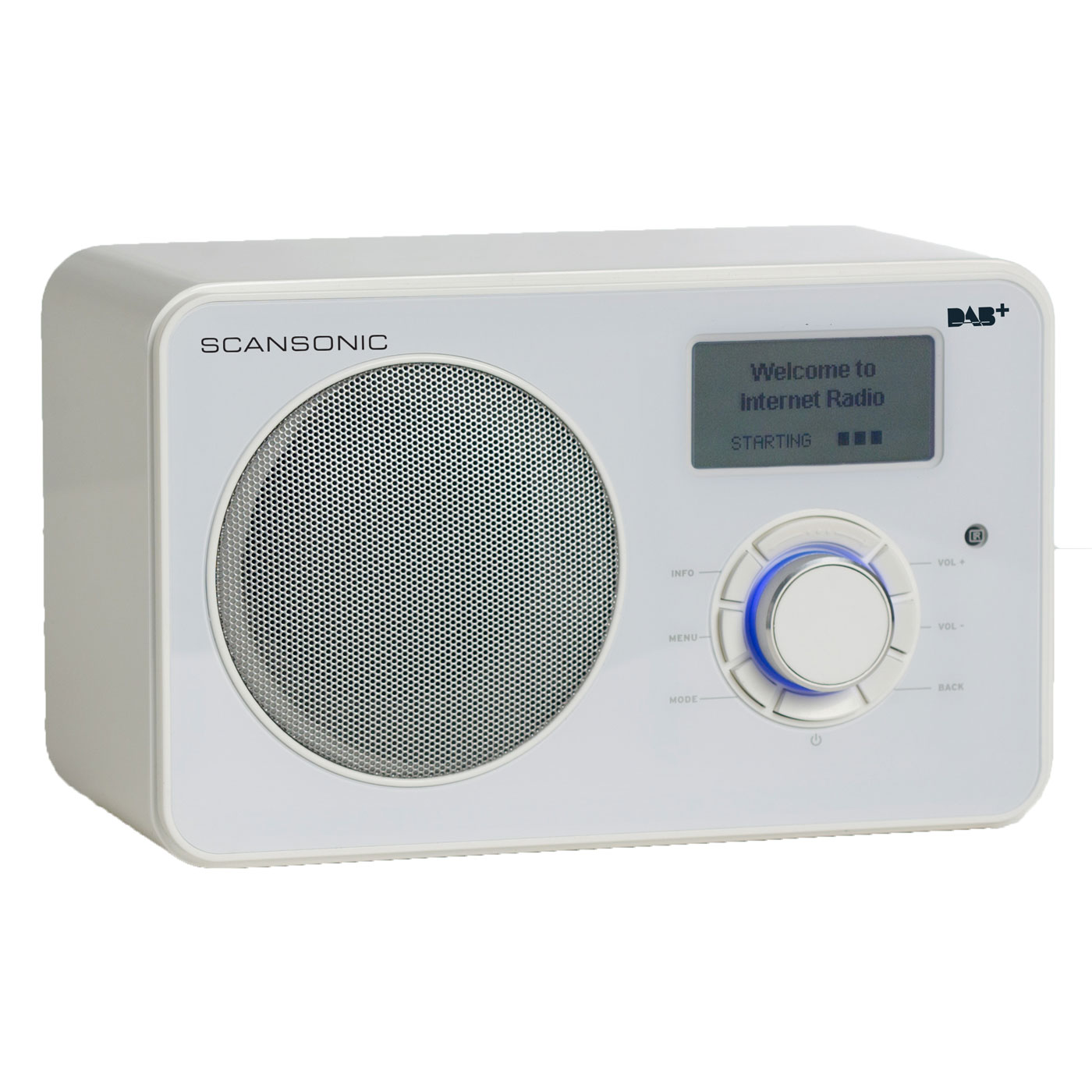 scansonic in220bt blanc radio radio r veil scansonic sur. Black Bedroom Furniture Sets. Home Design Ideas