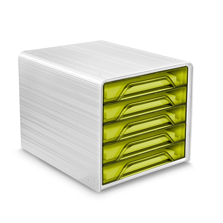 Module de classement CEP Smoove Bloc de classement 5 tiroirs Vert Bambou Bloc de classement 5 tiroirs fermés 24 x32 cm Vert Bambou