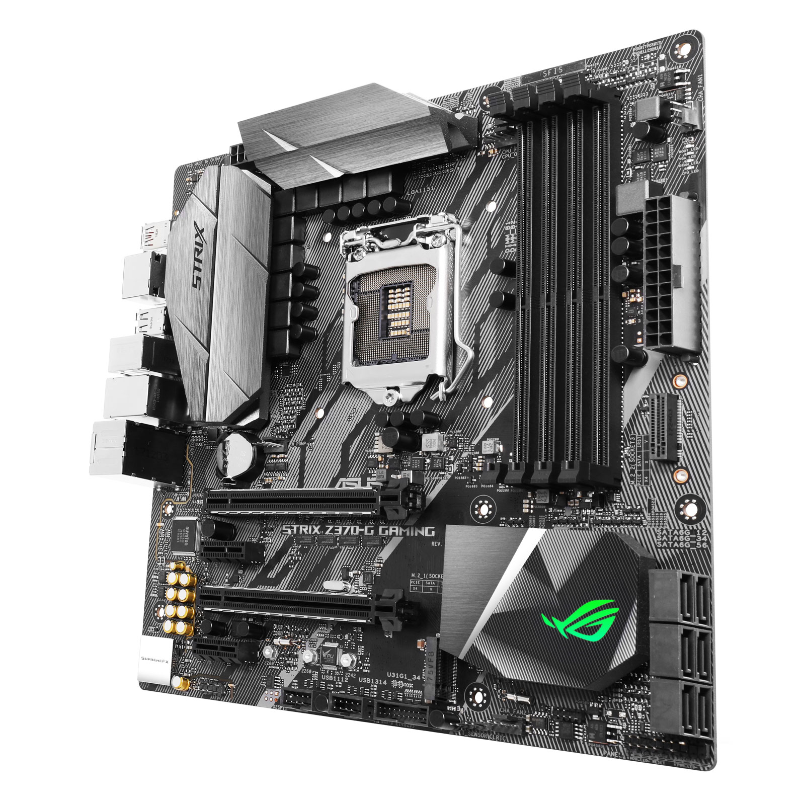 Carte mère ASUS ROG STRIX Z370-G GAMING Wi-Fi AC Carte mère Micro ATX Socket 1151 Intel Z370 Express - 4x DDR4 - SATA 6Gb/s + M.2 - USB 3.1 - Wi-Fi AC/Bluetooth 4.2 - 3x PCI-Express 3.0 16x