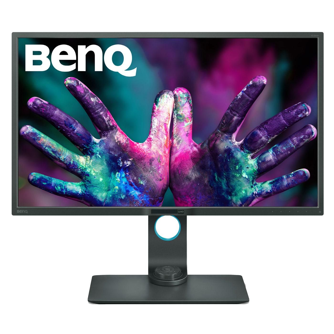 """Ecran PC BenQ 32"""" LED - PD3200U 3840 x 2160 pixels - 4 ms (gris à gris) - Format large 16/9 - Dalle IPS - HDMI/DisplayPort - Noir"""