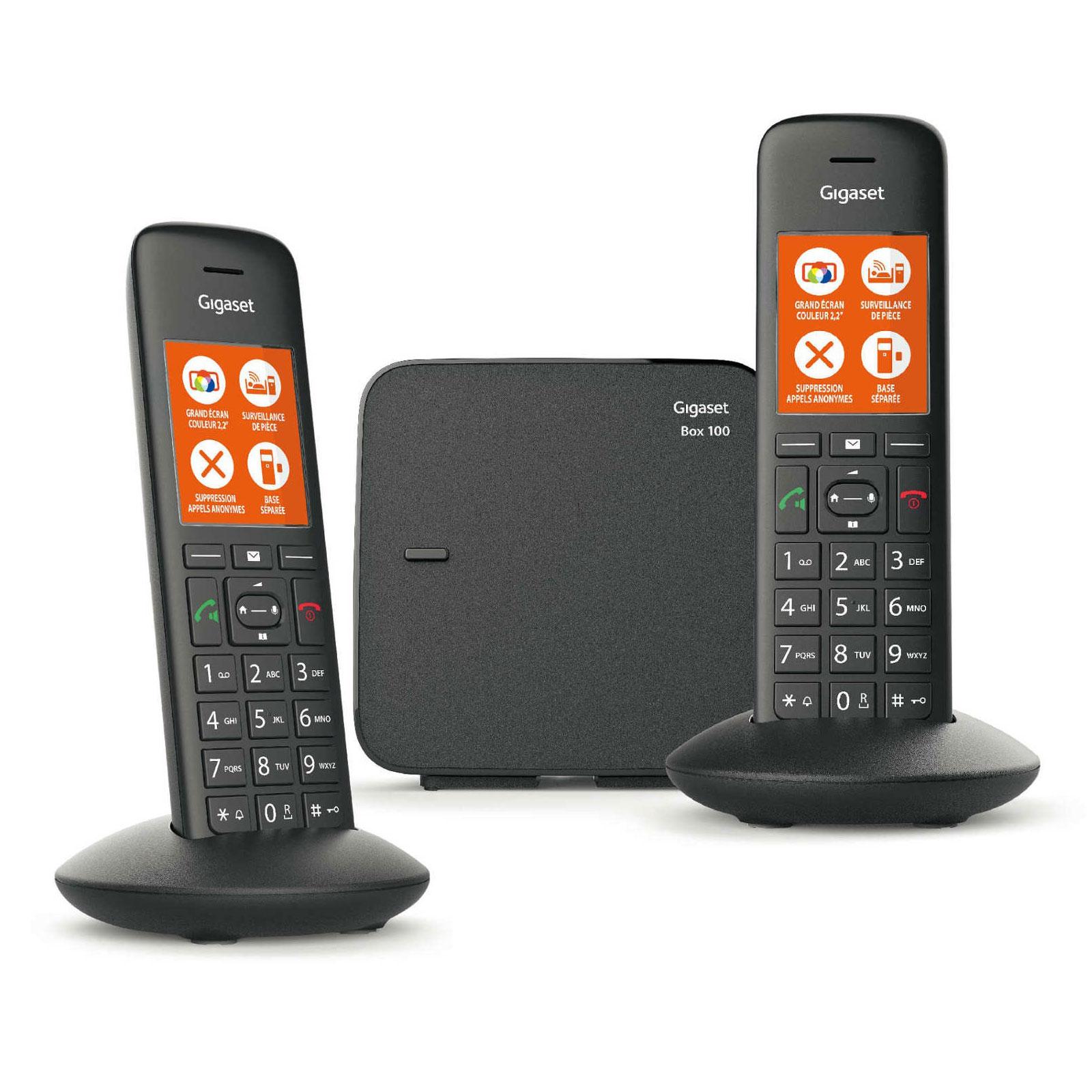 Gigaset C570 Duo Noir Téléphone DECT sans fil avec base séparée modulable  et combiné supplémentaire fc20dc779e52