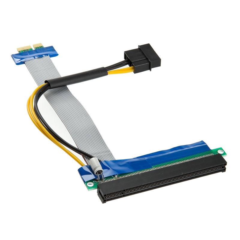 Alimentation Kolink adaptateur horizontal (riser) PCI-Express 1x vers 16x - Nappe 190 mm Adaptateur horizontal (riser) PCI-Express 1x vers 16x - Nappe 190 mm