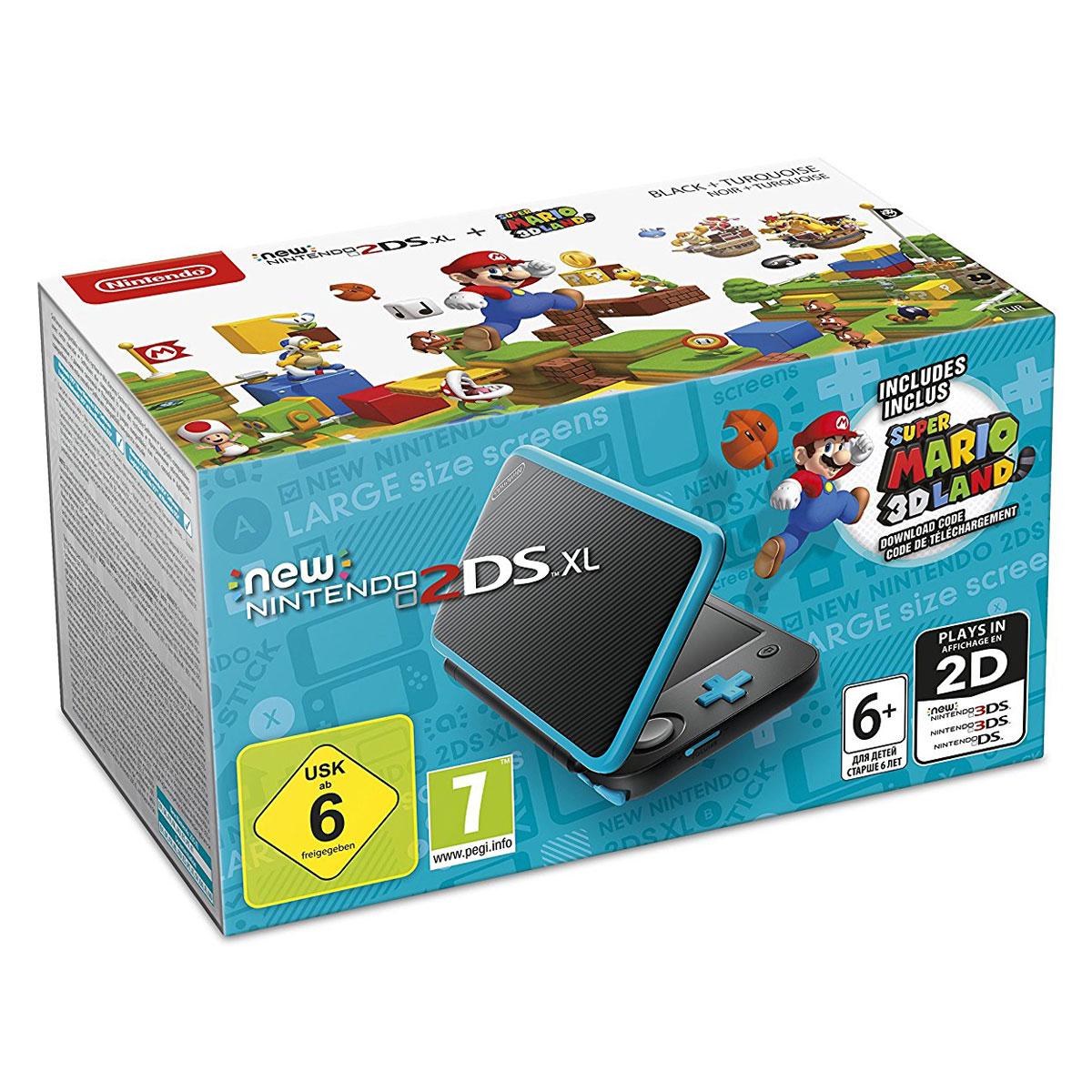Nintendo new 2ds xl noir turquoise super mario 3d land console nintendo 3ds nintendo sur - Console de jeux portable tactile ...