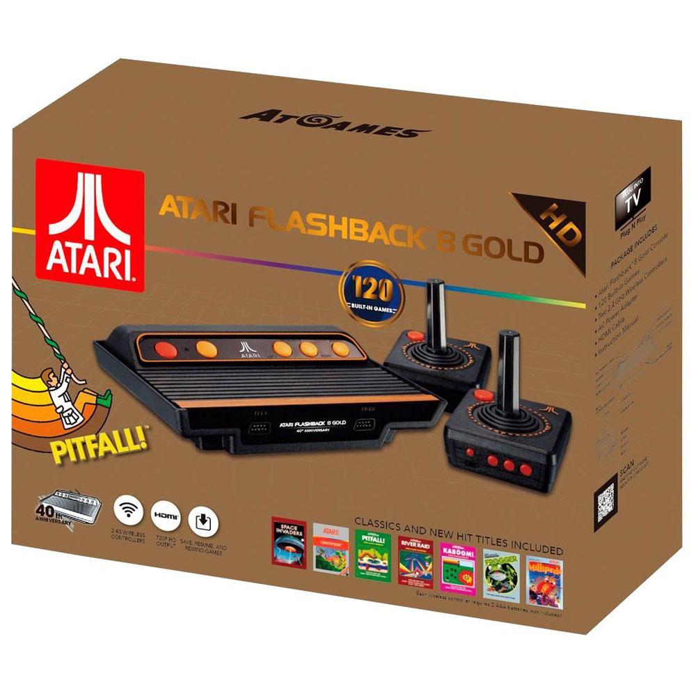 Rétrogaming Atari Flashback 8 Gold Console de salon Atari + 2 manettes + 120 jeux