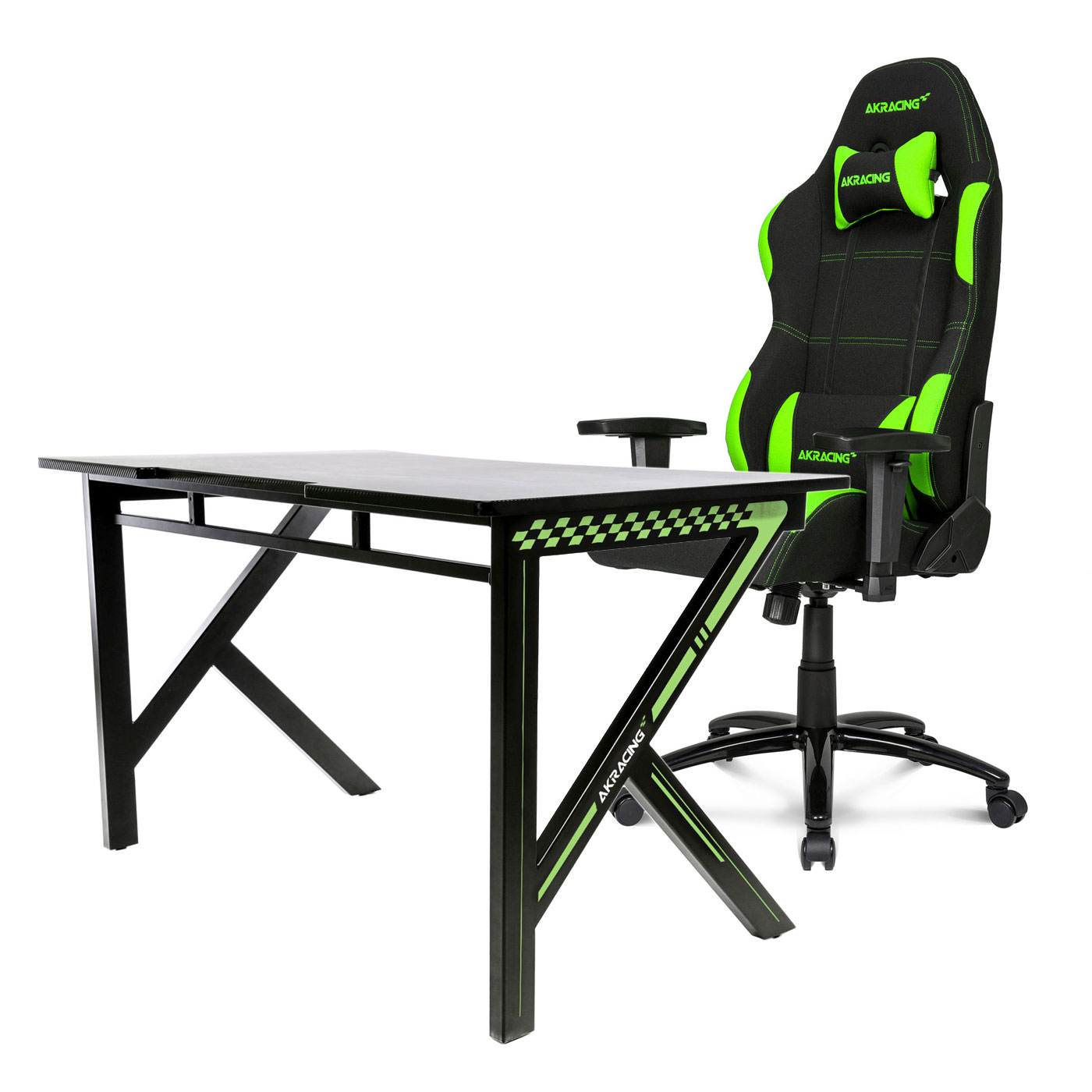 akracing gaming desk vert si ge pc akracing sur. Black Bedroom Furniture Sets. Home Design Ideas