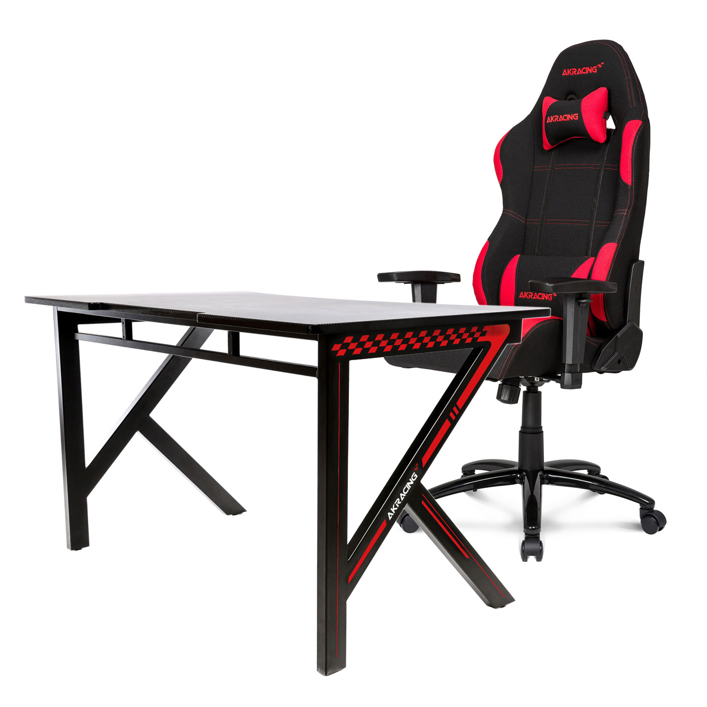 akracing gaming desk rouge fauteuil gamer akracing sur. Black Bedroom Furniture Sets. Home Design Ideas