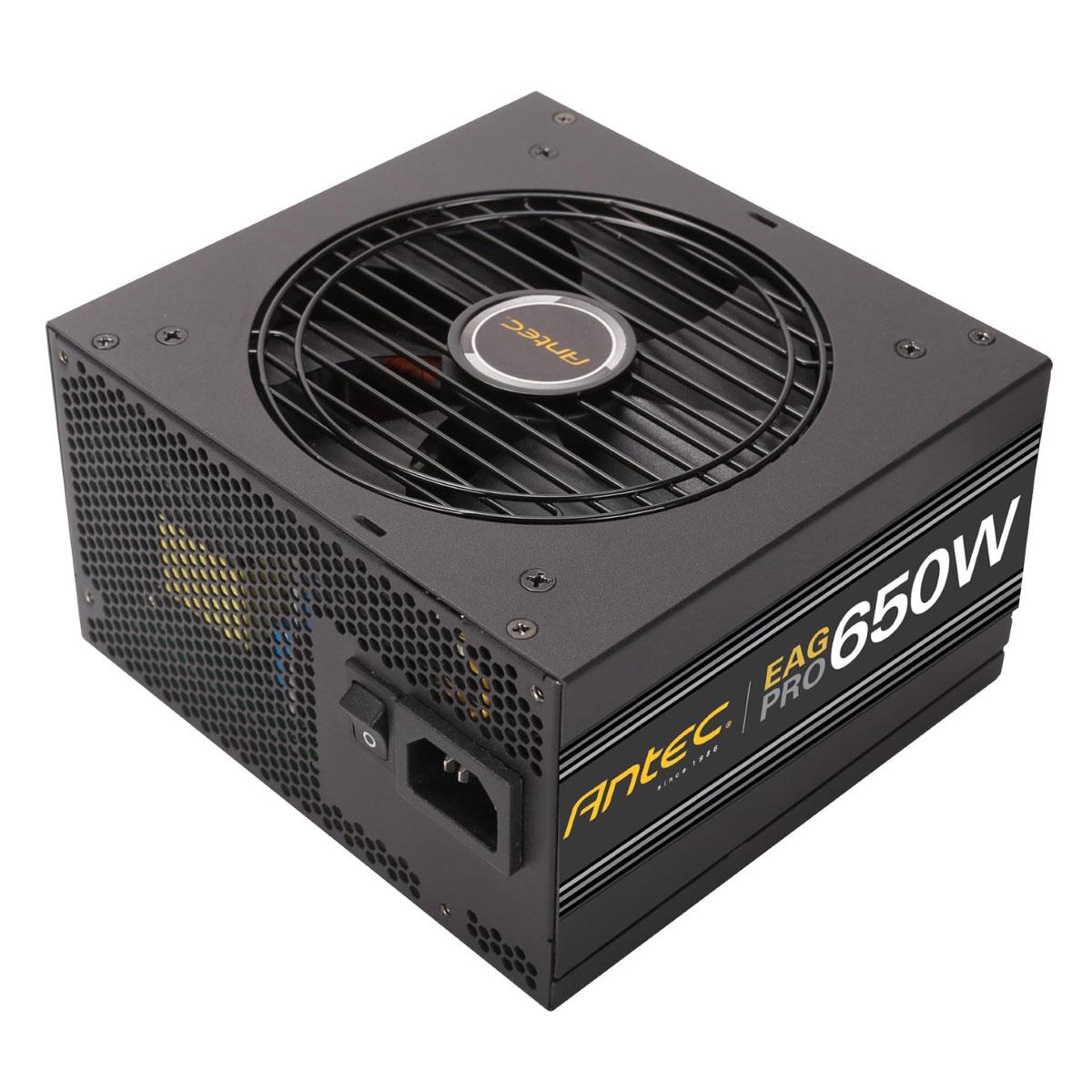Alimentation PC Antec EA650G PRO Alimentation modulaire 650 Watts ATX12V 2.3 80 PLUS Gold