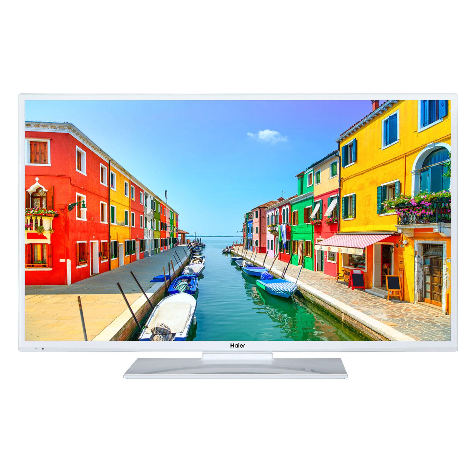 "TV Haier LEH28V100W Blanc Téléviseur LED HD 28"" (71 cm) 16/9 - 1366 x 768 pixels - HDTV - 100 Hz"