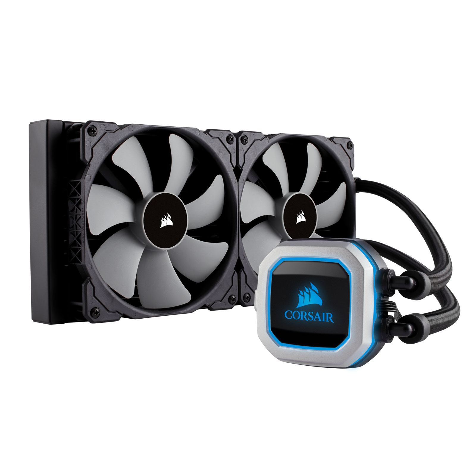 Ventilateur processeur Corsair Hydro Series H115i PRO Kit de refroidissement pour processeur avec éclairage LED RGB