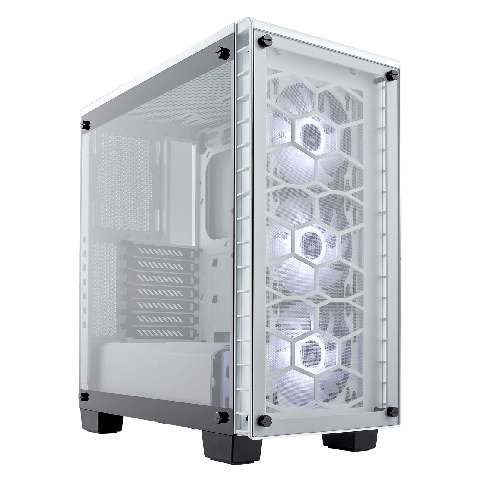 corsair crystal 460x rgb blanc bo tier pc corsair sur. Black Bedroom Furniture Sets. Home Design Ideas