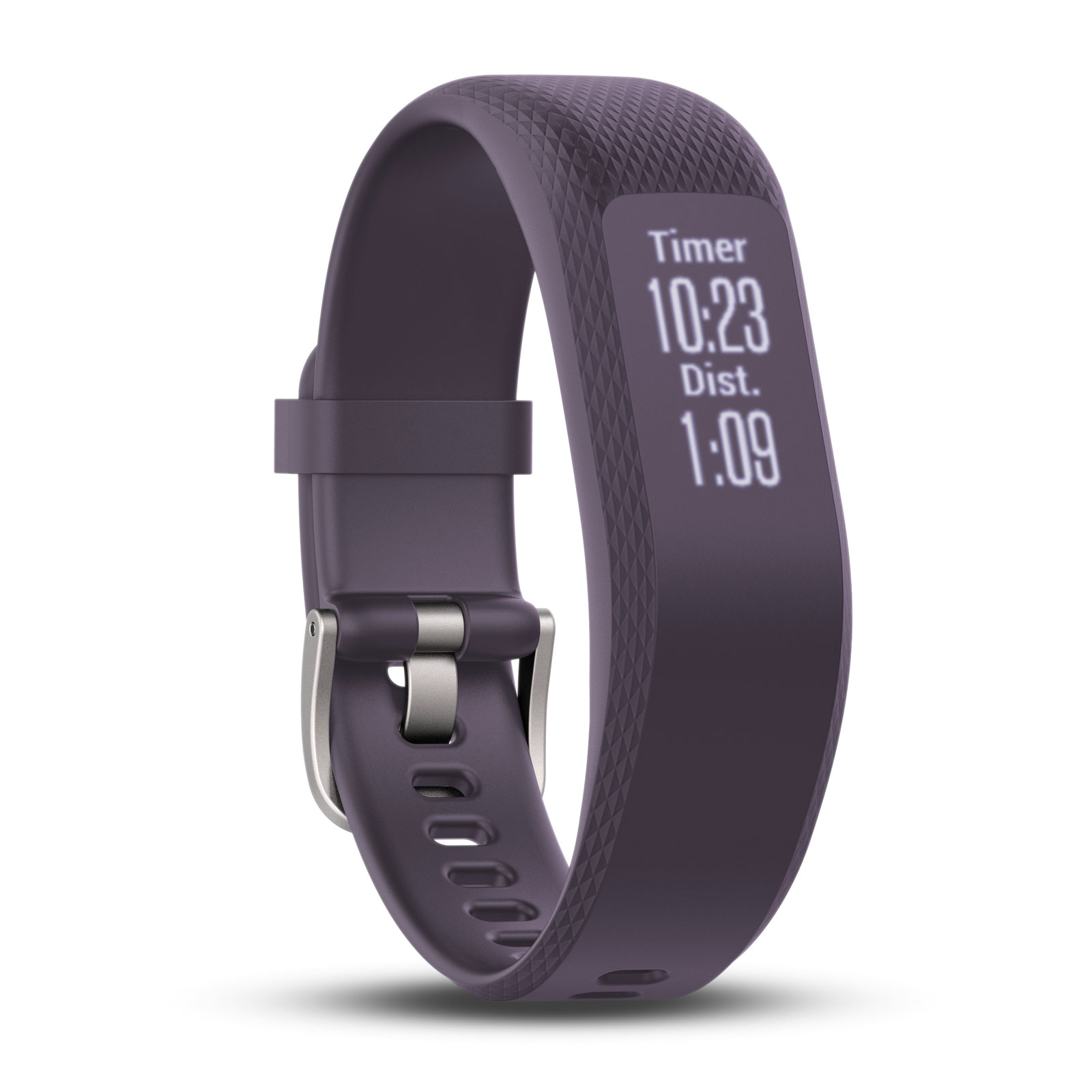 Bracelet connecté Garmin vívosmart 3 Violet Small/Medium Bracelet connecté étanche avec cardio poignet, tracker d'activité, Bluetooth et notifications (iOS, Android, Windows)