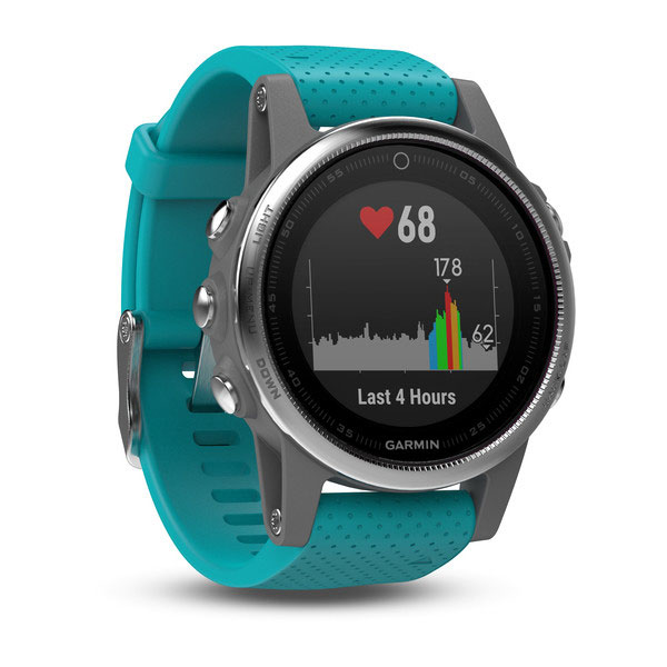 garmin fenix 5s argent turquoise montre connect e. Black Bedroom Furniture Sets. Home Design Ideas