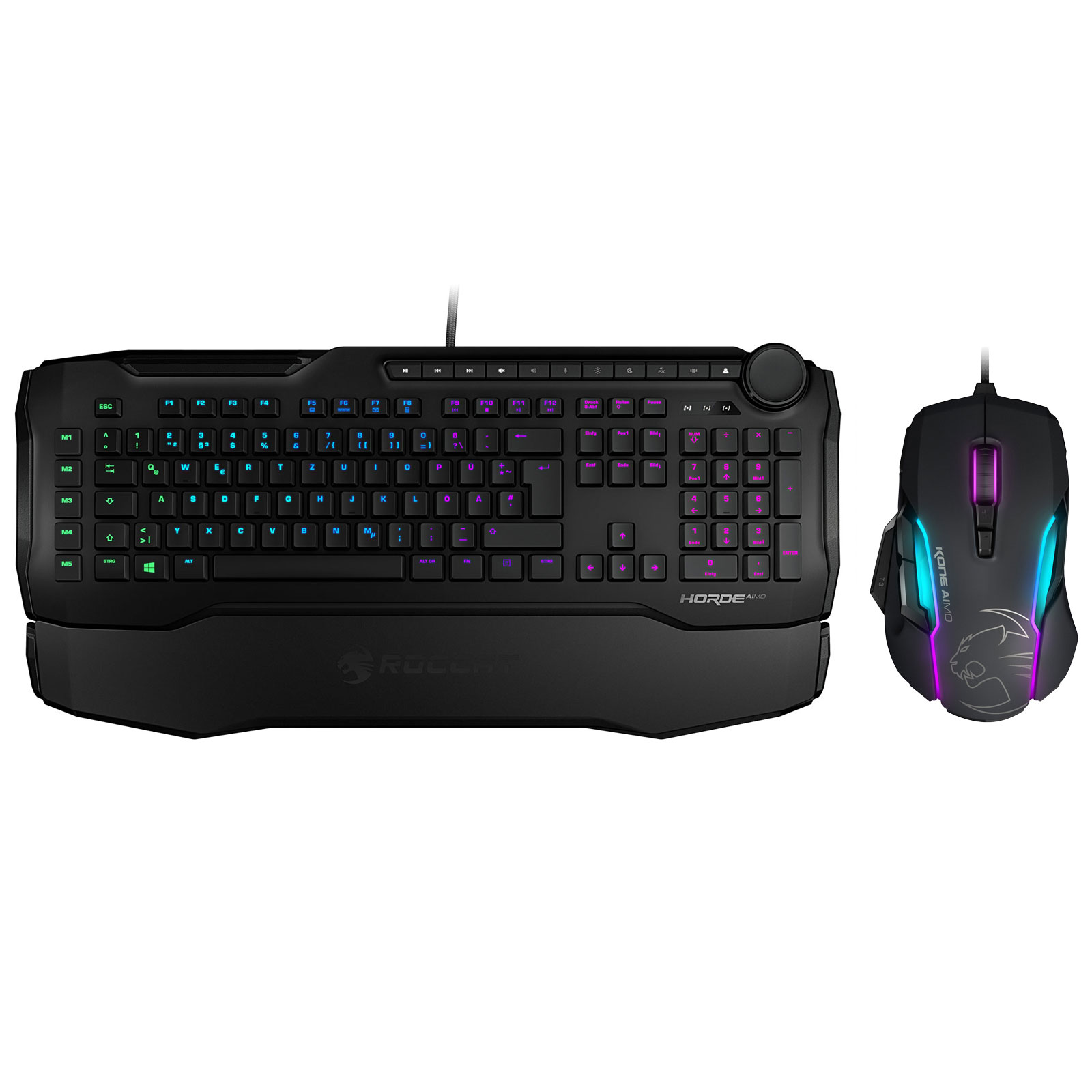 roccat aimo gaming pack noir pack clavier souris. Black Bedroom Furniture Sets. Home Design Ideas