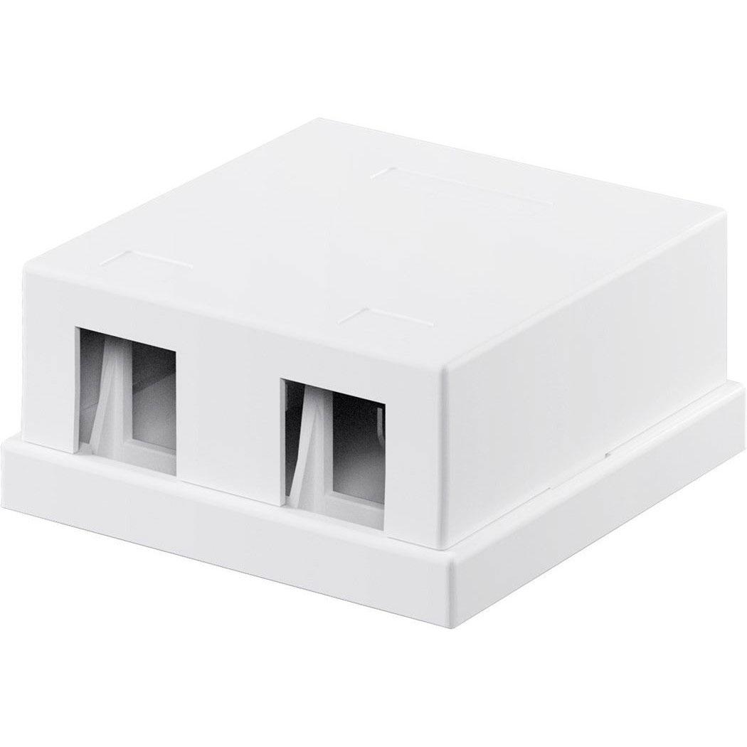Connectique RJ45 Goobay boiter réseau vide type Keystone (2 ports) Boitier réseau vide pour modules compatibles