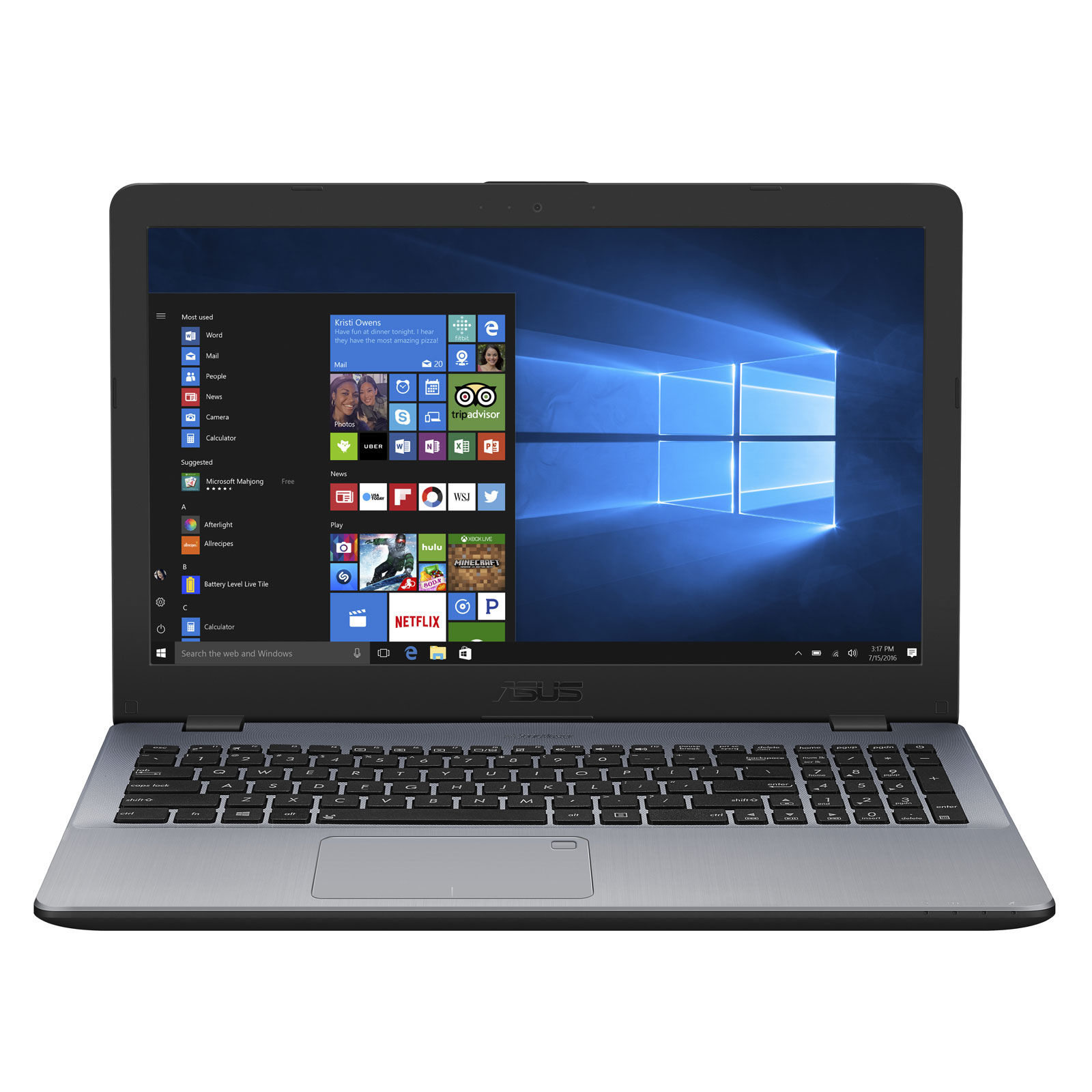 ASUS P1501UF DM205R Intel Core I7 8550U 8 Go SSD 256 156 LED Full HD NVIDIA GeForce MX130 Graveur DVD Wi Fi AC Bluetooth Webcam Windows 10