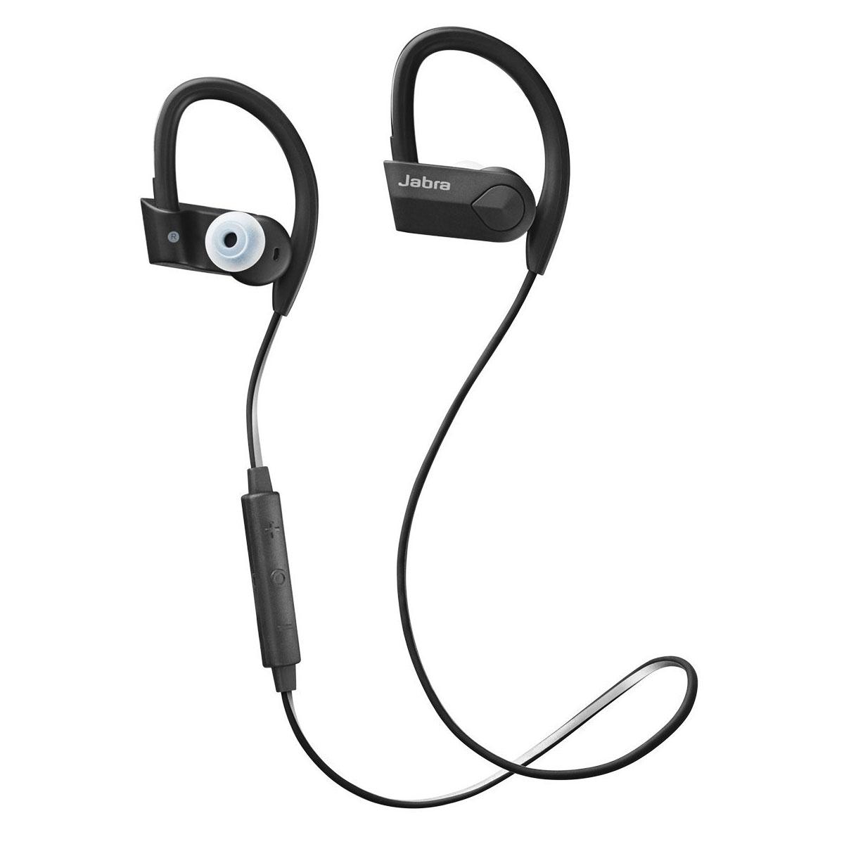 Casque Jabra Sport Pace Noir Écouteurs intra-auriculaires sans fil Bluetooth certifiés IP54