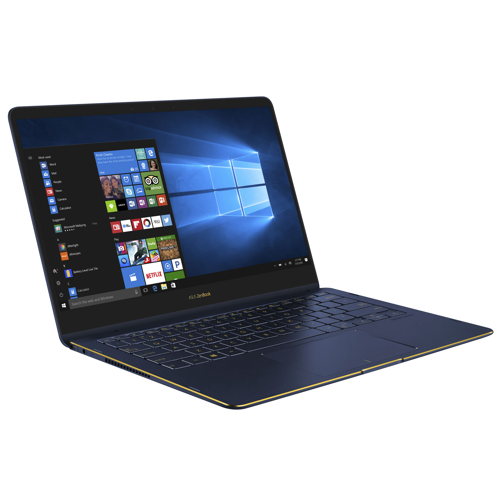 asus zenbook flip s u7r16512 b bleu pc portable asus sur. Black Bedroom Furniture Sets. Home Design Ideas