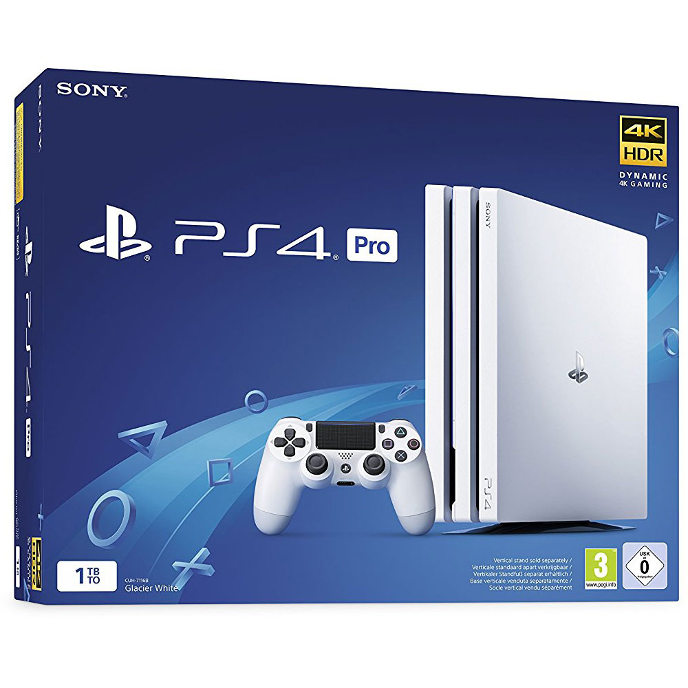 sony playstation 4 pro 1 to blanc console ps4 sony. Black Bedroom Furniture Sets. Home Design Ideas