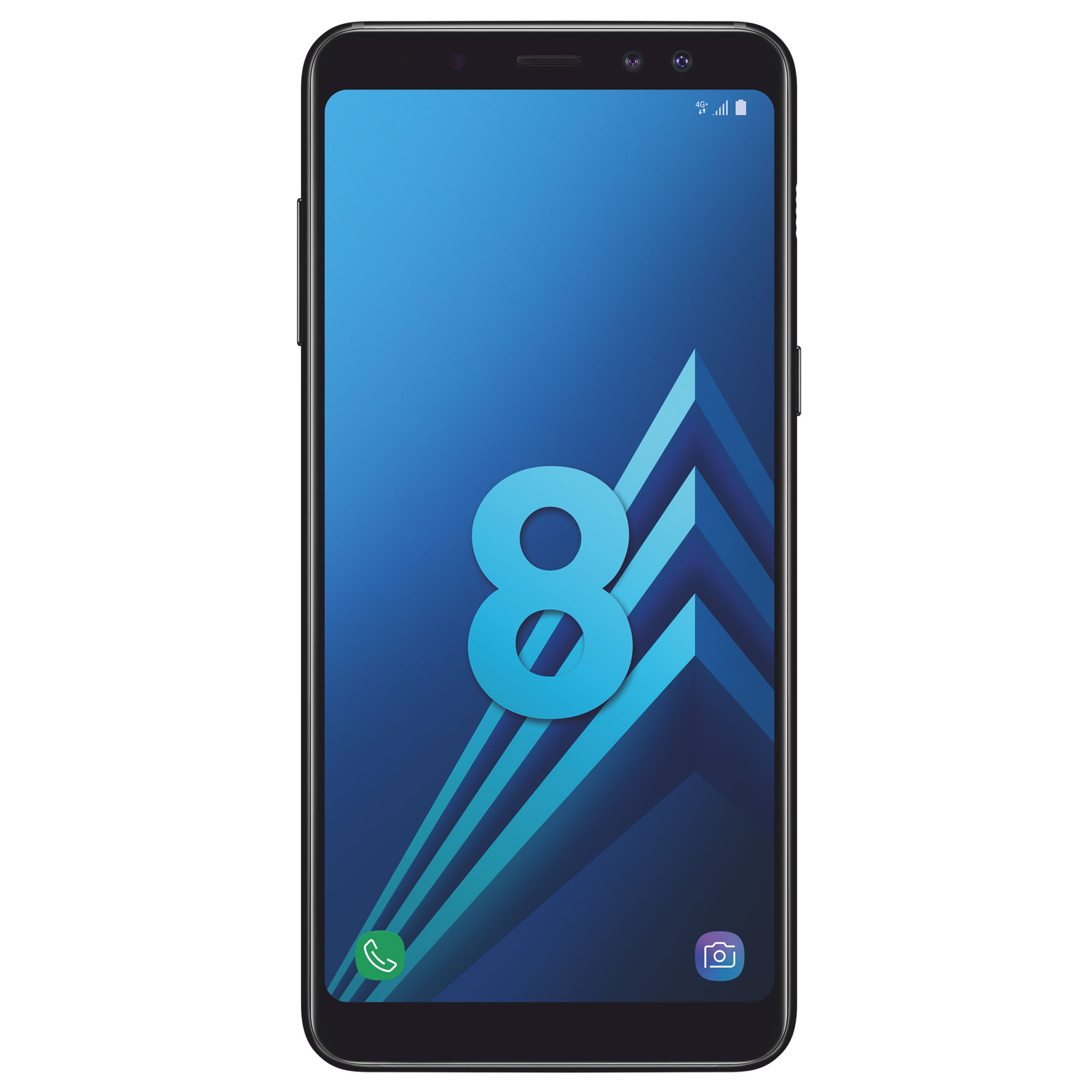 "Mobile & smartphone Samsung Galaxy A8 Noir Smartphone 4G-LTE Advanced IP68 Dual SIM - Exynos 7885 8-Core 2.2 Ghz - RAM 4 Go - Ecran tactile 5.6"" 1080 x 2220 - 32 Go - NFC/Bluetooth 5.0 - 3000 mAh - Android 7.1"