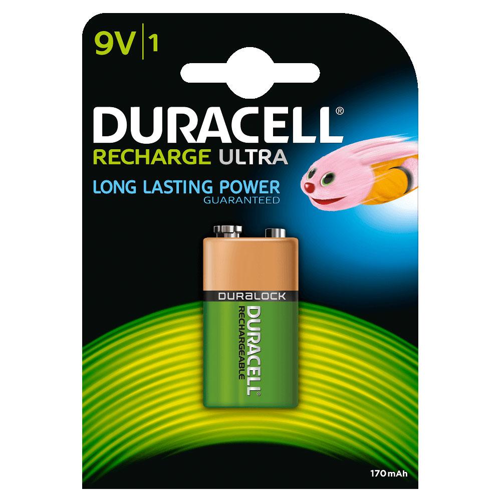 Duracell recharge ultra 9v 170 mah par 1 pile - Pile 9v rechargeable ...