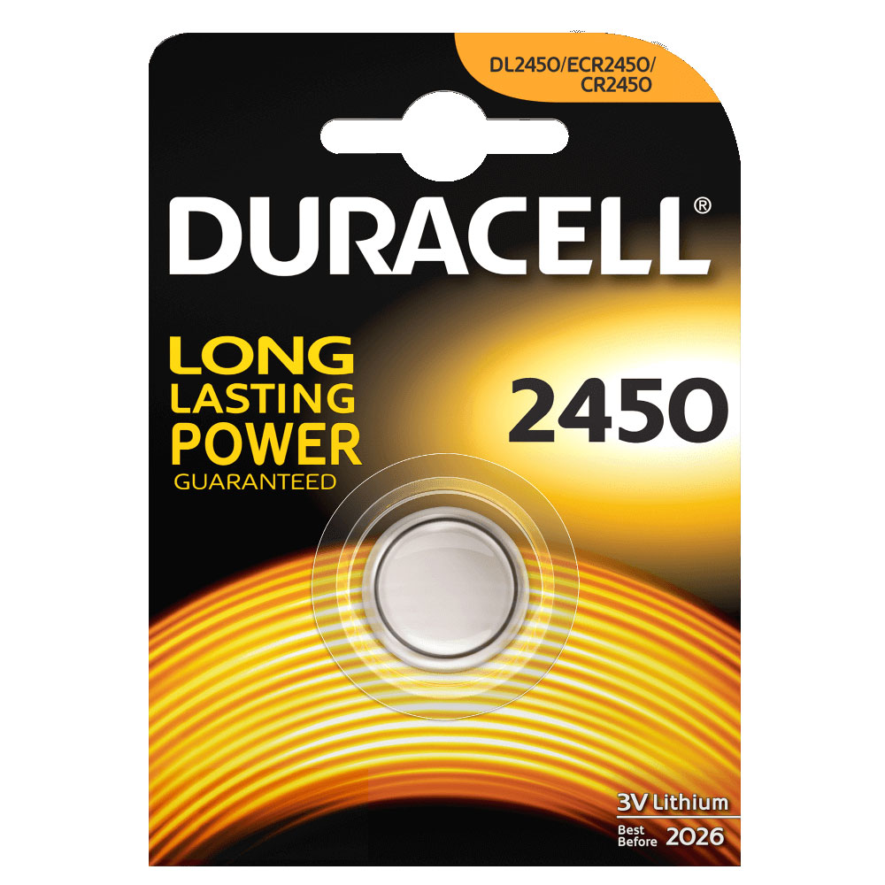 Pile & chargeur Duracell 2450 Lithium 3V Pile bouton CR2450 au lithium 3V