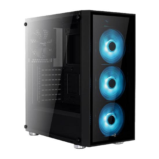 Boîtier PC Aerocool Quartz RGB Boîtier Moyen Tour avec fenêtre latérale