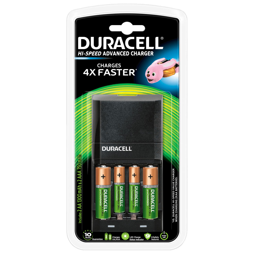 duracell hi speed advanced charger pile chargeur duracell sur. Black Bedroom Furniture Sets. Home Design Ideas