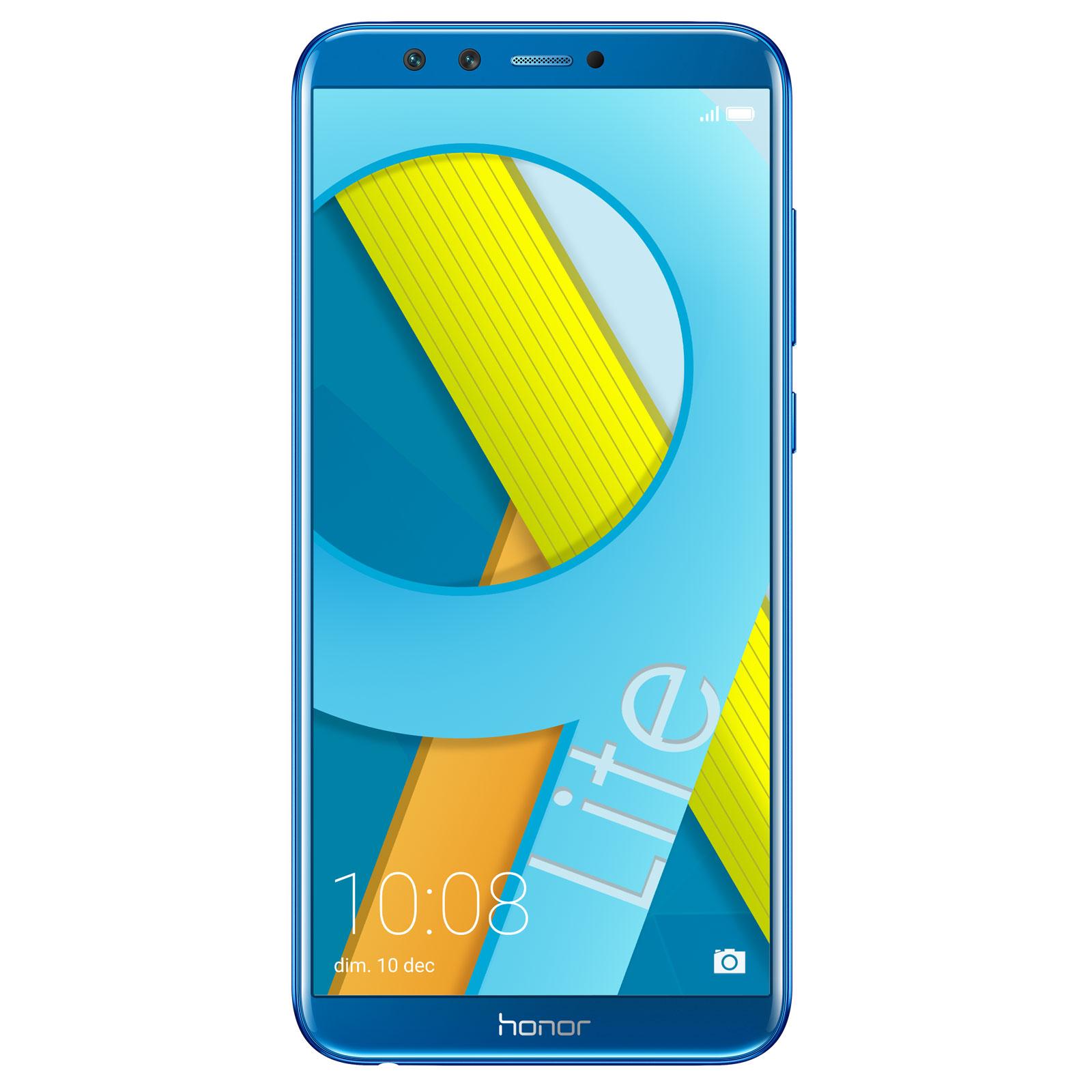 "Mobile & smartphone Honor 9 Lite Bleu (3 Go / 32 Go) Smartphone 4G-LTE Dual SIM - Kirin 659 8-Core 2,36 GHz - RAM 3 Go - Ecran tactile 5.65"" 1080 x 2160 - 32 Go - NFC/Bluetooth 4.2 - 3000 mAh - Android 8.0"