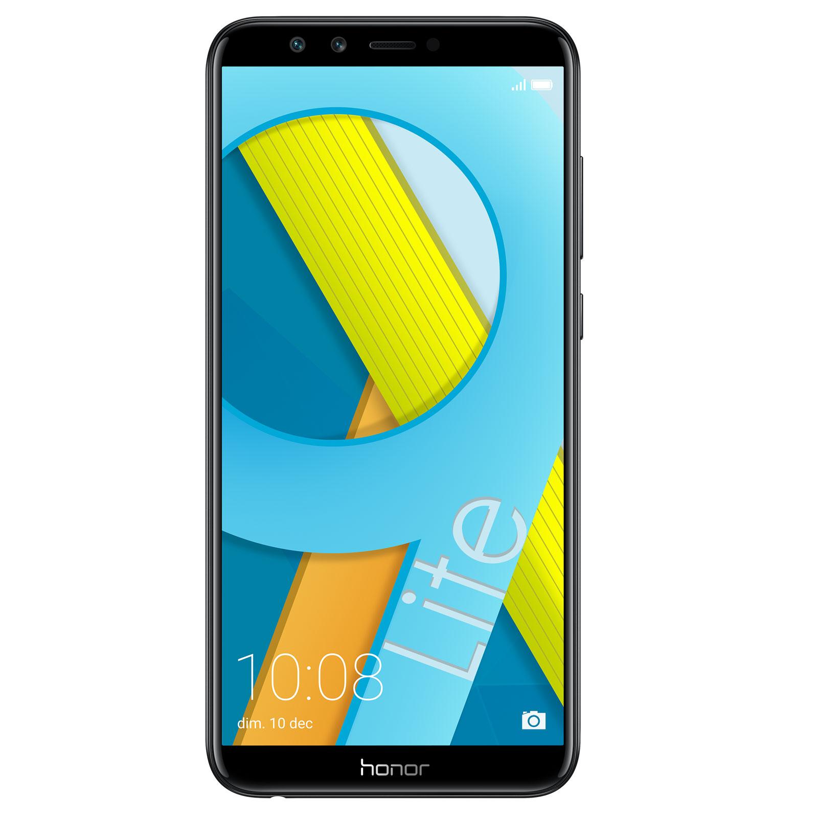 "Mobile & smartphone Honor 9 Lite Noir (3 Go / 32 Go) Smartphone 4G-LTE Dual SIM - Kirin 659 8-Core 2,36 GHz - RAM 3 Go - Ecran tactile 5.65"" 1080 x 2160 - 32 Go - NFC/Bluetooth 4.2 - 3000 mAh - Android 8.0"