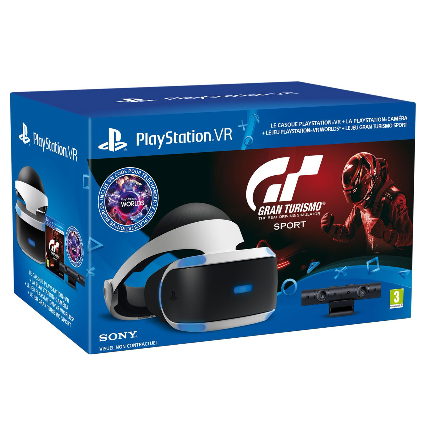 sony playstation vr psvr cam ra gran turismo sport vr world accessoires ps4 sony. Black Bedroom Furniture Sets. Home Design Ideas