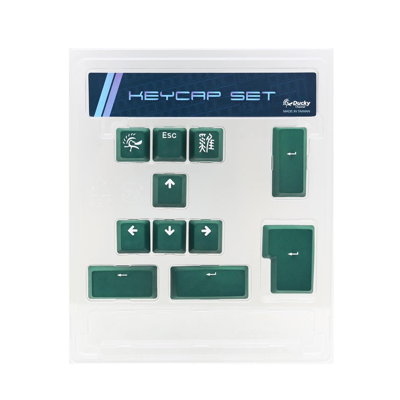 Clavier PC Ducky Channel ABS Keycap Set (vert) Lot de 11 touches de remplacement en ABS pour clavier mécanique à switches Cherry MX (AZERTY, Français)