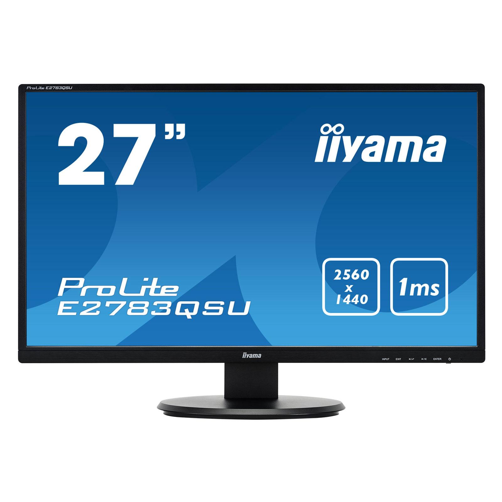 Iiyama 27 led e2783qsu b1 ecran pc iiyama sur for Eclairage ecran pc