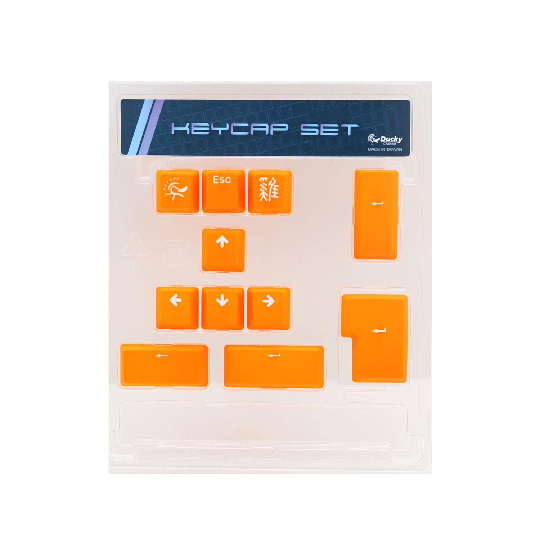 Clavier PC Ducky Channel ABS Keycap Set (orange) Lot de 11 touches de remplacement en ABS pour clavier mécanique à switches Cherry MX (AZERTY, Français)