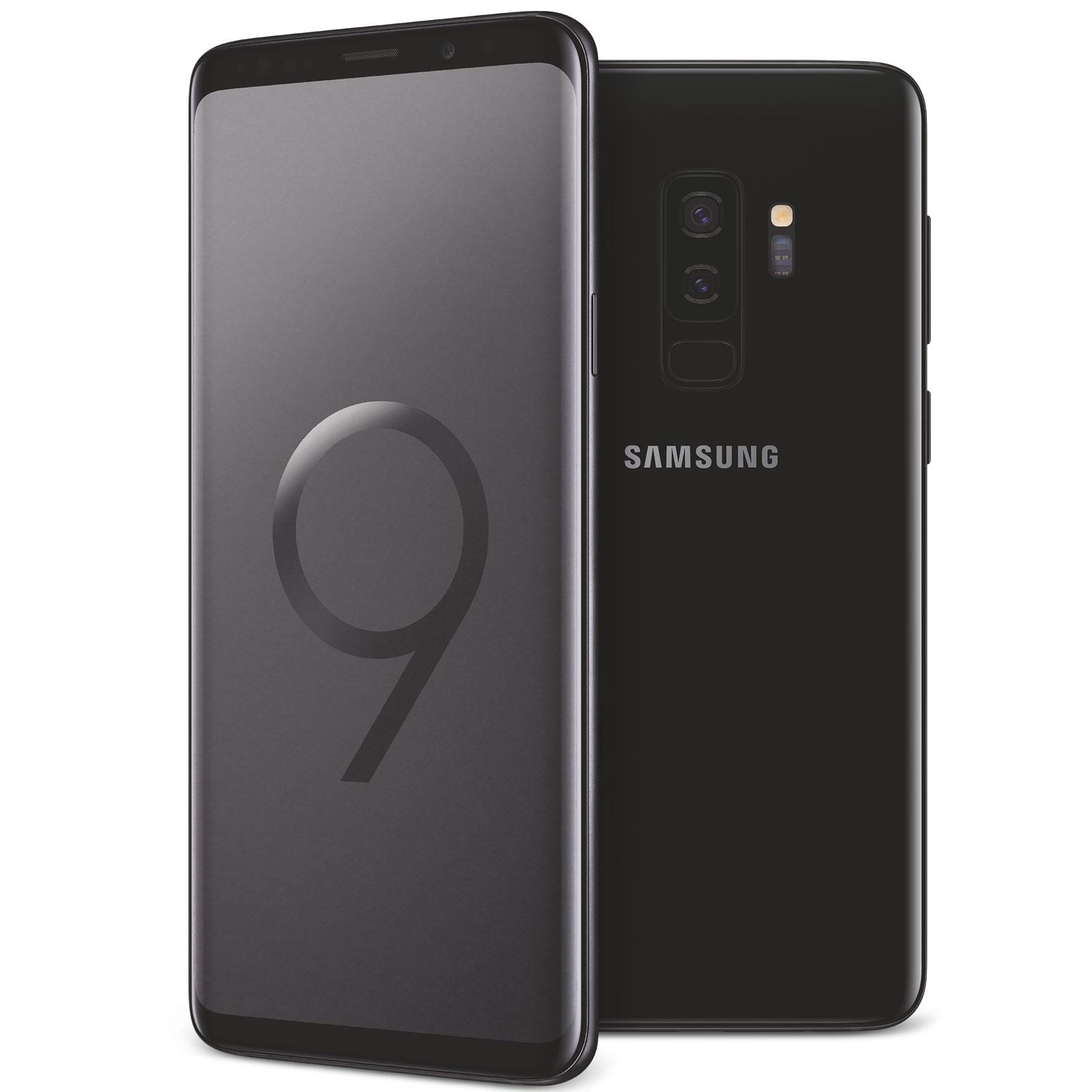"Mobile & smartphone Samsung Galaxy S9+ SM-G965F Noir Carbone 64 Go Smartphone 4G-LTE Advanced Dual SIM IP68 - Exynos 9810 8-Core 2.7 GHz - RAM 6 Go - Ecran tactile 6.2"" 1440 x 2960 - 64 Go - NFC/Bluetooth 5.0 - 3500 mAh - Android 8.0"