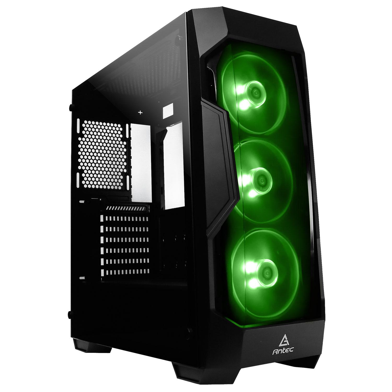 Boîtier PC Antec DF500 RGB Boîtier Moyen Tour RGB avec fenêtre en verre trempé