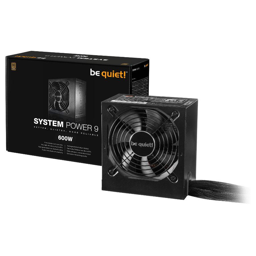 Alimentation PC be quiet! System Power 9 600W 80PLUS Bronze Alimentation 600W ATX 12V / EPS 12V (Garantie 3 ans constructeur)