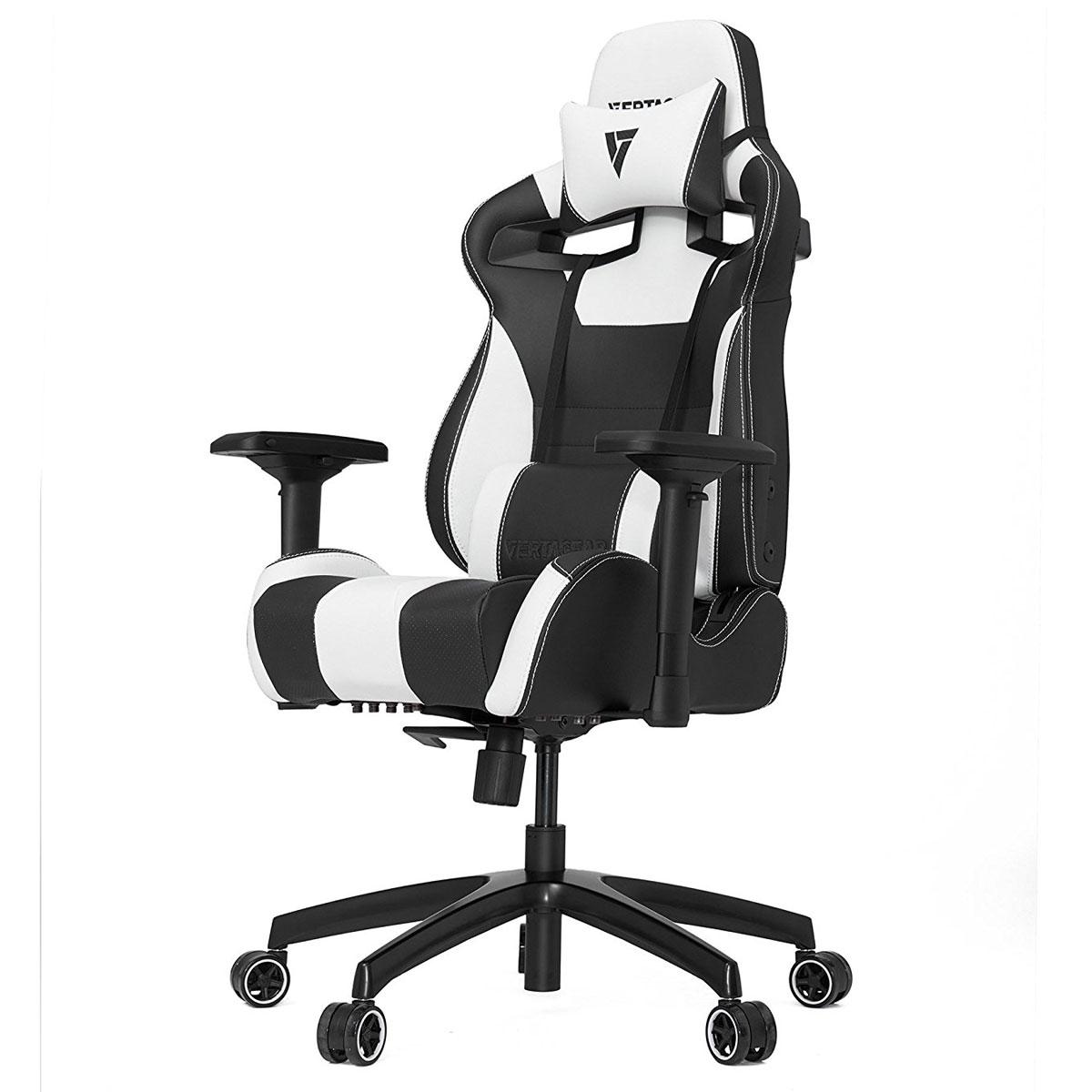 Fauteuil gamer Vertagear Racing SL4000 (noir/blanc) Siège en similicuir avec dossier réglable à 140° et accoudoirs 4D pour gamer (jusqu'à 150 kg)