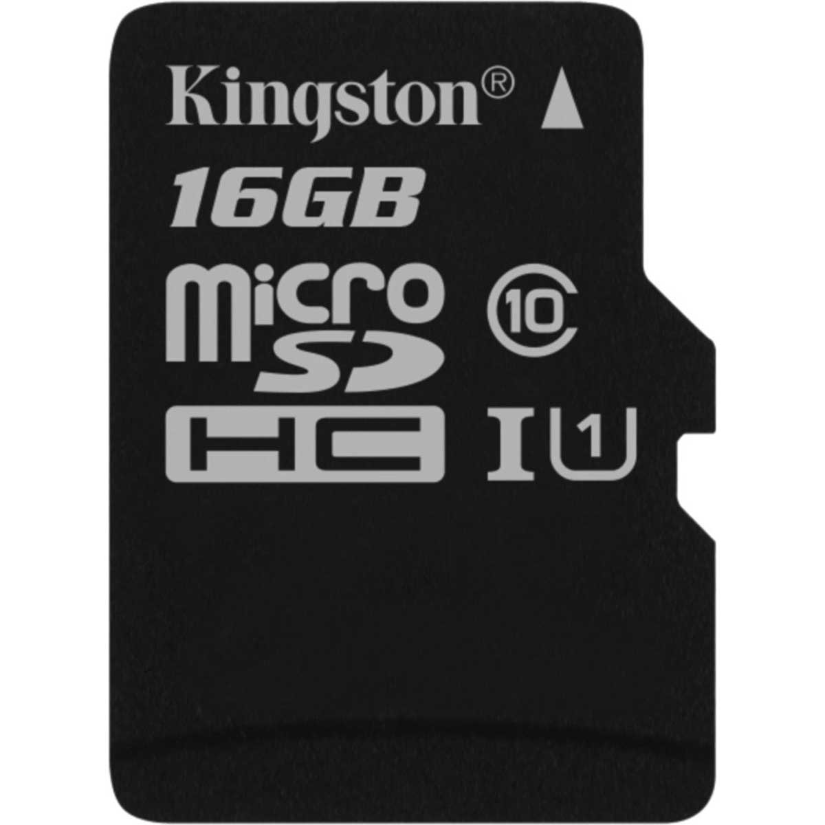 Carte Memoire Kingston Canvas Select SDCS 16GBSP MicroSDXC UHS I U1 16