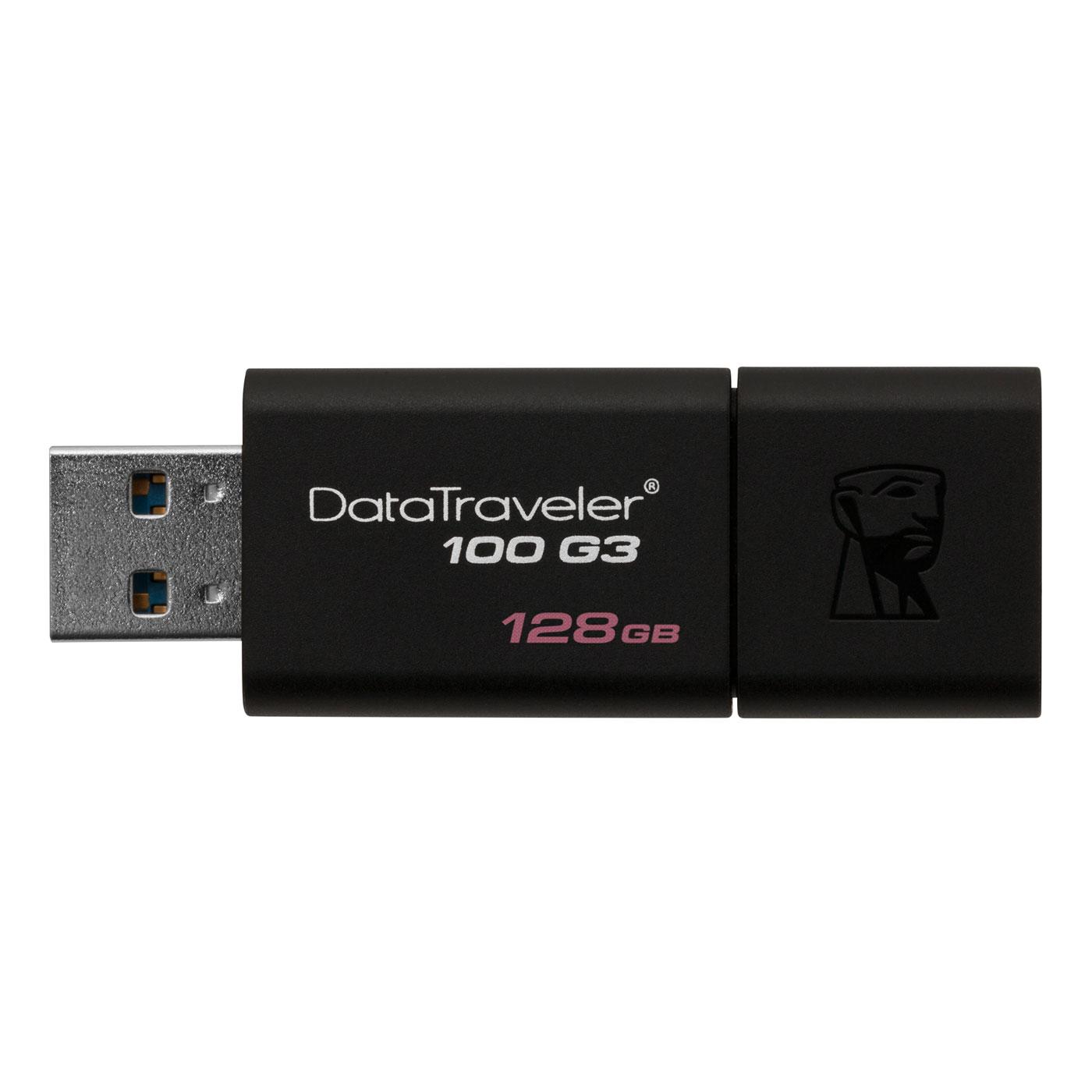 Clé USB Kingston DataTraveler 100 G3 128 Go Clé USB 3.0 128 Go (garantie constructeur 5 ans)