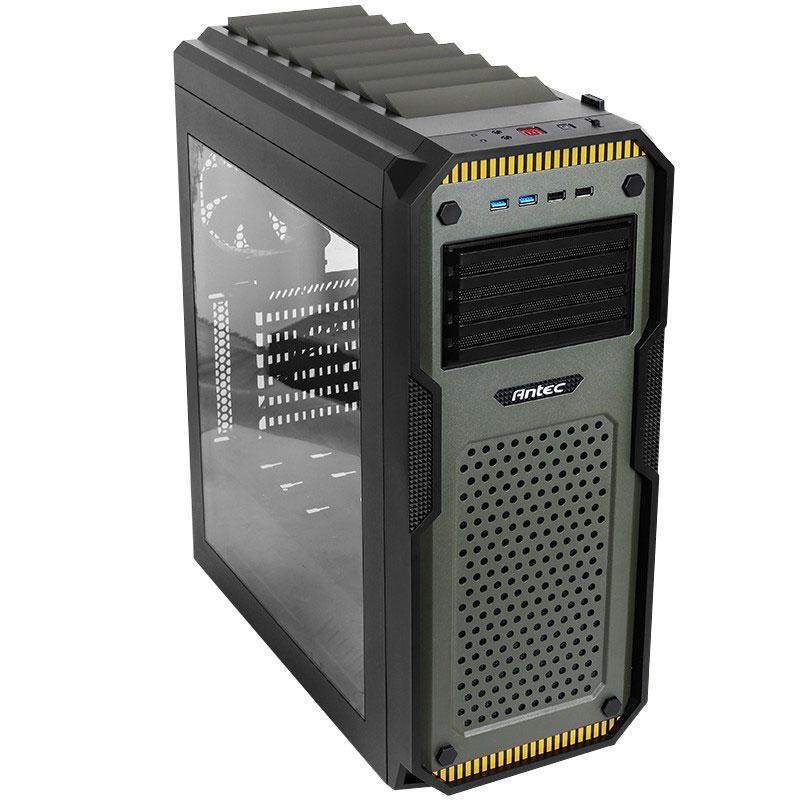 Boîtier PC Antec GX909 Window Boîtier Moyen Tour Gamer avec fenêtre - Design militaire