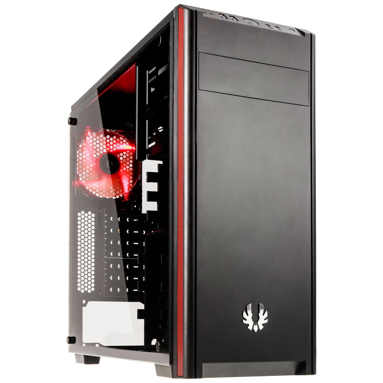 Boîtier PC BitFenix Nova TG (Noir) Boîtier moyen tour avec fenêtre en verre trempé