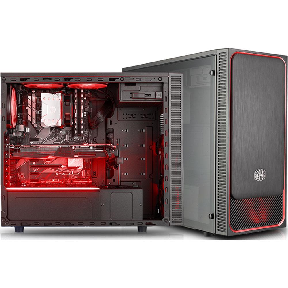 cooler master masterbox e500l windows rouge bo tier pc cooler master ltd sur. Black Bedroom Furniture Sets. Home Design Ideas