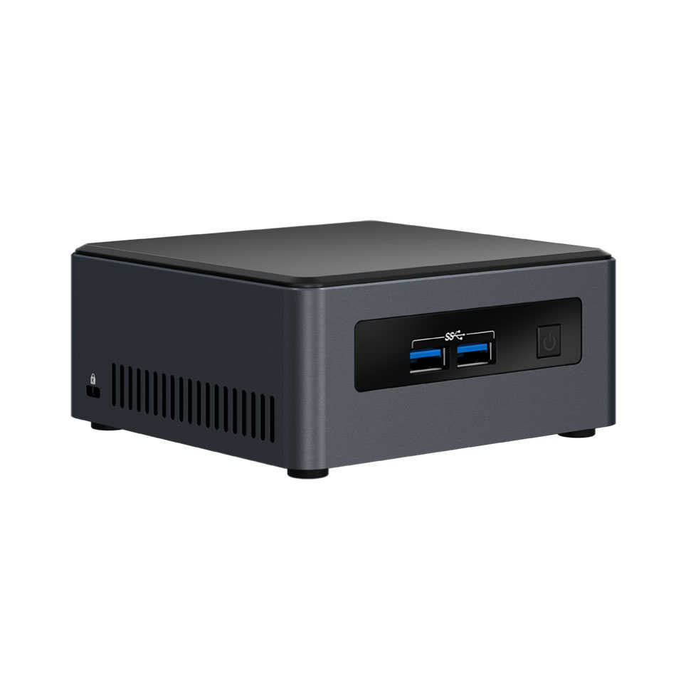 "Barebone PC Intel NUC NUC7i3DNHE Intel Core i3-7100U Intel HD Graphics 620 Wi-Fi AC / Bluetooth 4.2 + emplacements M.2 et SATA 2.5"" (sans écran/mémoire/disque dur)"