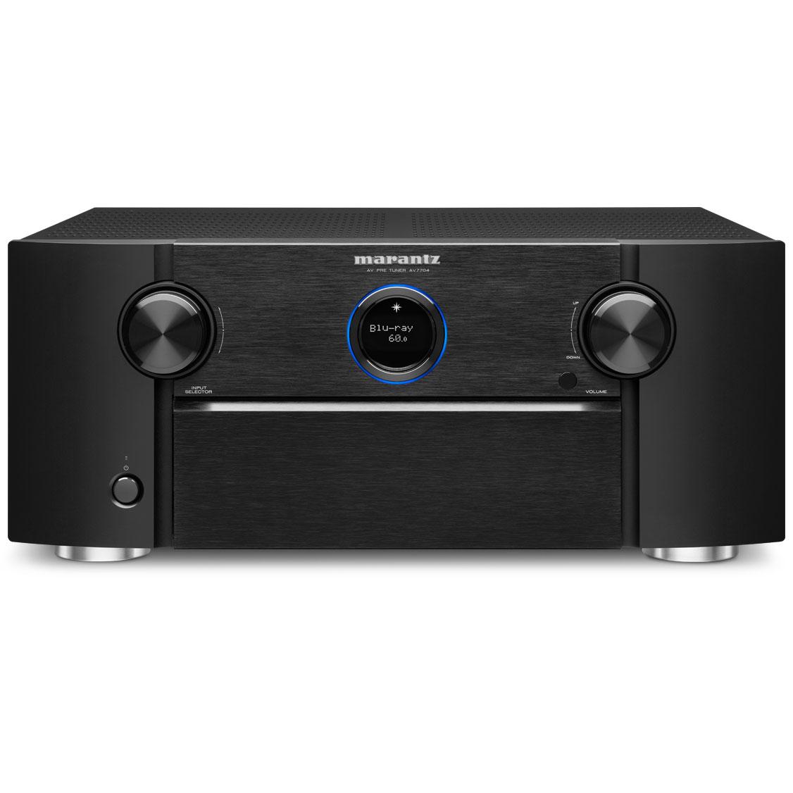 Ampli home cinéma Marantz AV7704 Noir Préampli-tuner Home Cinema 3D 11.2 Ultra HD/4K, Wi-Fi, AirPlay, Bluetooth, HDCP 2.2, Dolby Atmos et DTS:X