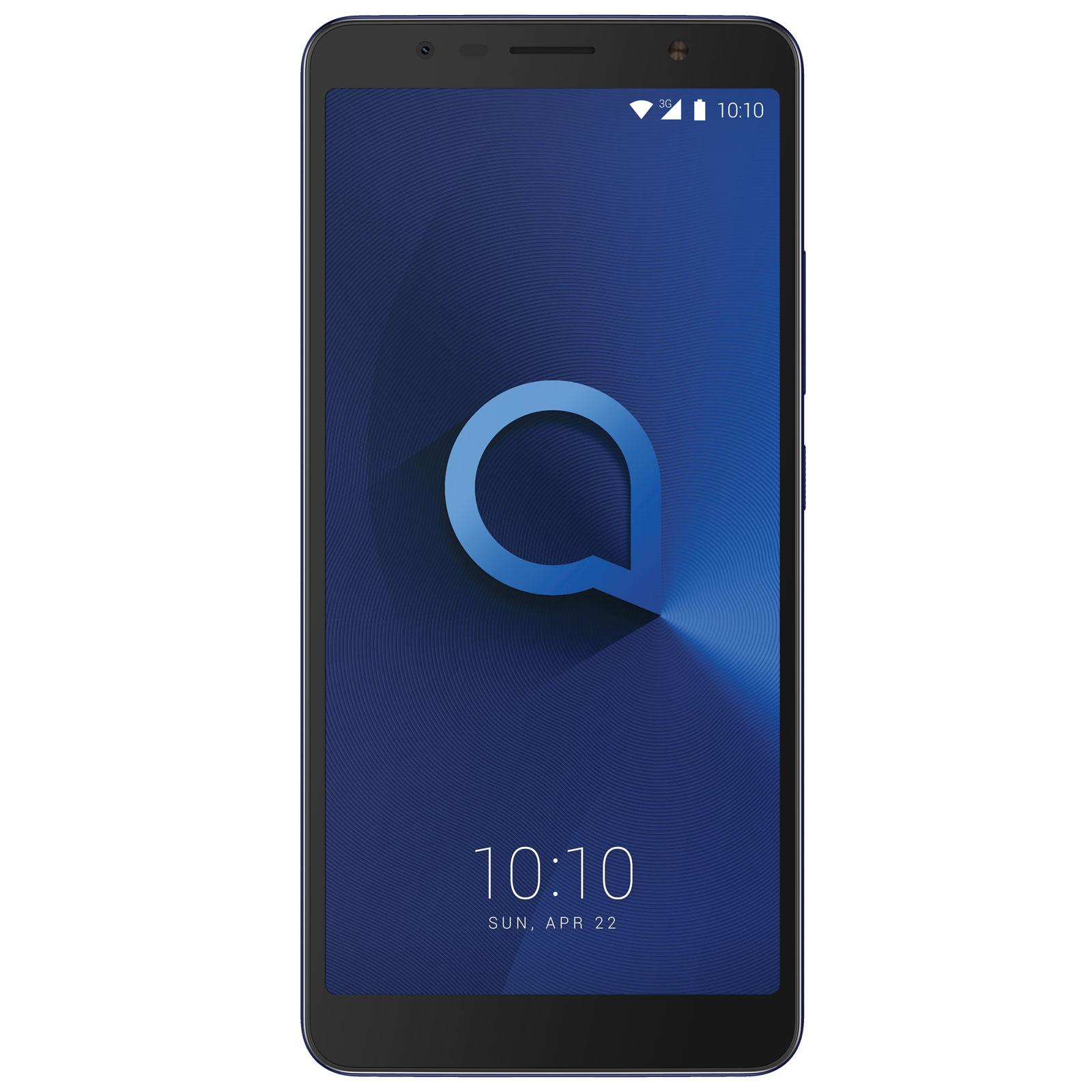 """Mobile & smartphone Alcatel 3c Bleu métallique Smartphone 3G+ Dual SIM - MediaTek MT8321 Quad-Core 1.3 GHz - RAM 1 Go - Ecran tactile 6"""" 720 x 1440 - 16 Go - Bluetooth 4.2 - 3000 mAh - Android 7.0"""