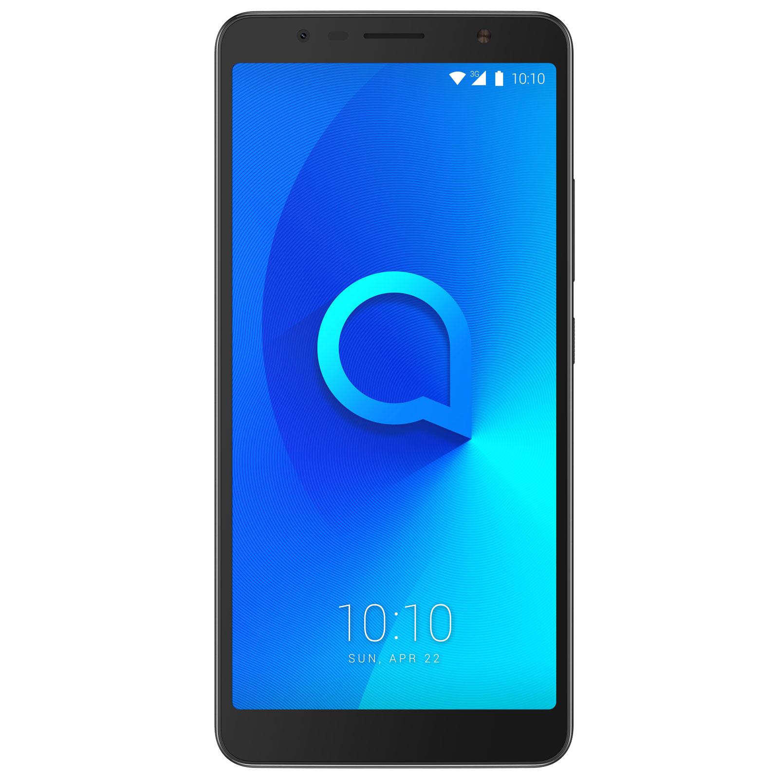 "Mobile & smartphone Alcatel 3c Noir Métallique Smartphone 3G+ Dual SIM - MediaTek MT8321 Quad-Core 1.3 GHz - RAM 1 Go - Ecran tactile 6"" 720 x 1440 - 16 Go - Bluetooth 4.2 - 3000 mAh - Android 7.0"