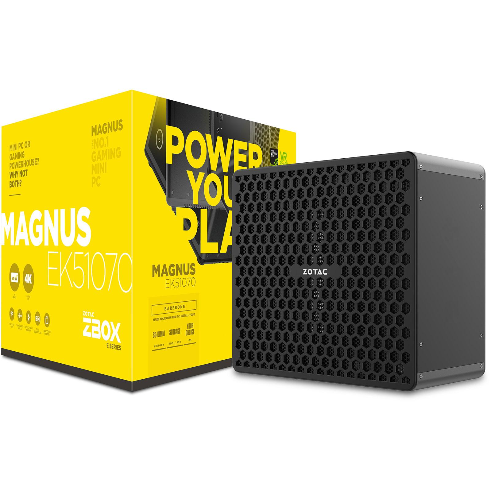 Barebone PC ZOTAC ZBOX MAGNUS EK51070 Intel Core i5-7300HQ GeForce GTX 1070 Wi-Fi AC / Bluetooth 4.2 (sans écran/mémoire/disque dur)