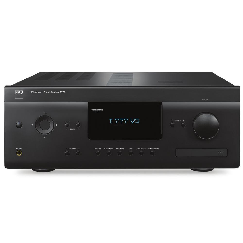 Ampli home cinéma NAD T 777 V3 Noir Ampli-tuner Home Cinema 7.1 - 7 x 80 W - 5x HDMI 2.0 - HDCP 2.2 - Ultra HD 4K - Multiroom BluOS - Dirac Live - Hi-Res Audio - Dolby Atmos - Conception modulaire MDC