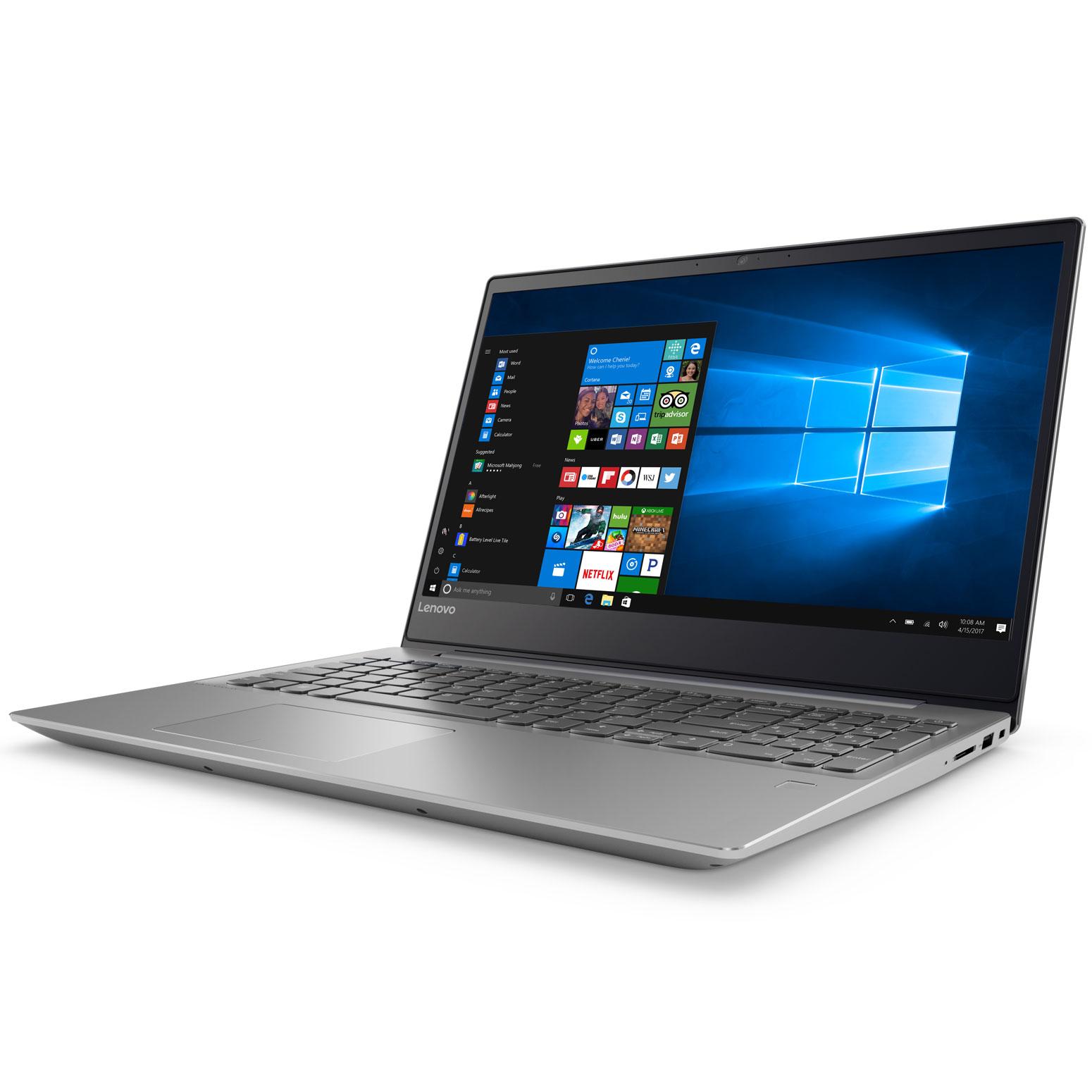 "PC portable Lenovo IdeaPad 720-15IKBR (81C70019FR) Intel Core i5-8250U 4 Go 1 To 15.6"" LED Full HD AMD Radeon RX 550 2 Go Wi-Fi AC/Bluetooth Webcam Windows 10 Famille 64 bits"