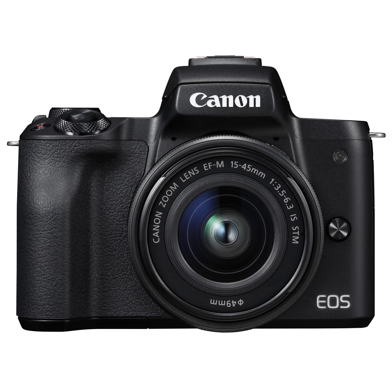 Canon eos m50 noir ef m 15 45 mm is stm noir appareil for Ecran appareil photo canon